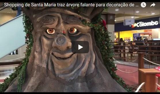 VÍDEO: árvore falante quer divertir criançada em shopping de Santa Maria - Royal Plaza Shopping