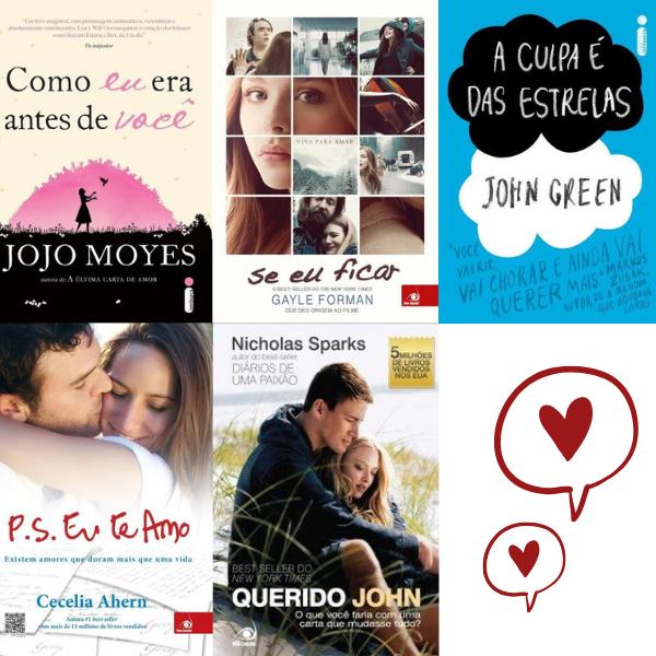 5 livros em clima de romance - Royal Plaza Shopping