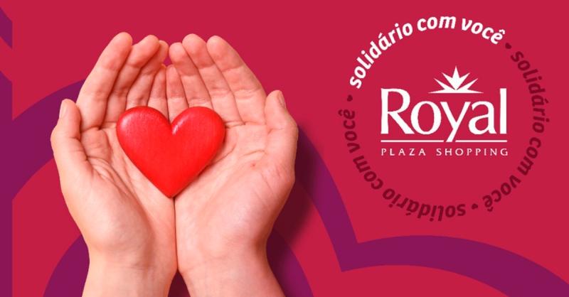 Entrega das doações Campanha Solidária 2020 - Royal Plaza Shopping