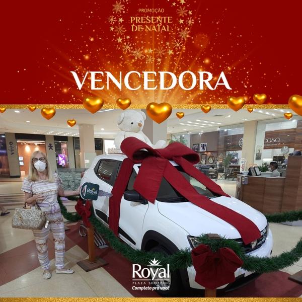 Promoção Presente de Natal já tem uma vencedora! - Royal Plaza Shopping