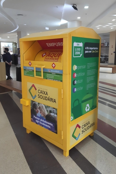 Primeira Caixa Solidária do RS está no Royal - Royal Plaza Shopping